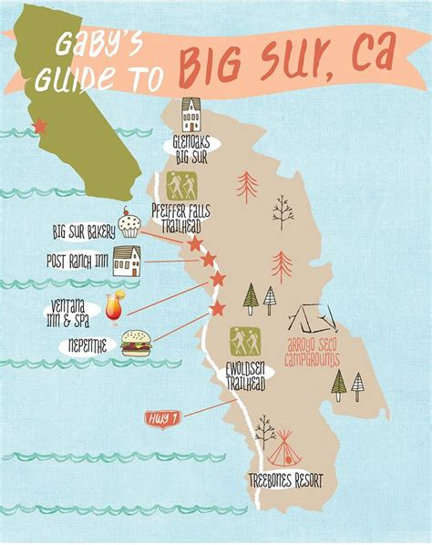 big sur map gaby s guide to big sur