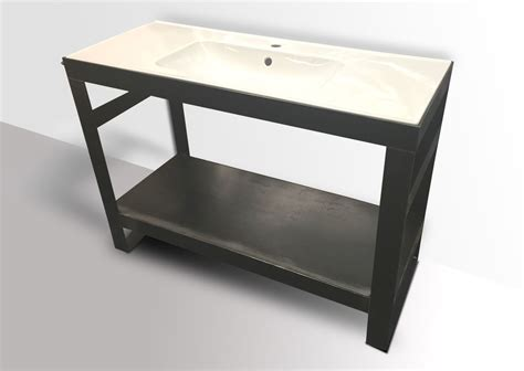 Industrial Vanity Table Industrial Modern Steel Vanity Kb Furnishings Modern Furniture And Industrial Furniture By Kb