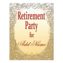 personalized retirement invitation 4 25 quot x 5 5 quot invitation card zazzle
