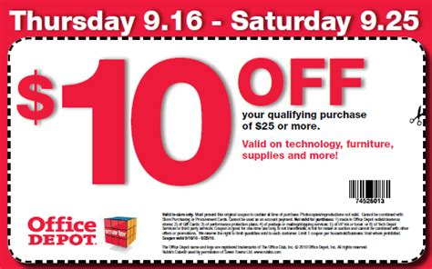 Can You Stack Office Depot Coupons Office Depot Coupon 10 25 Purchase