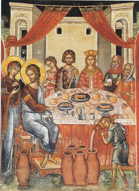 Wedding At Cana Icon by St Chrysostom Archives Orthodox Church Quotes