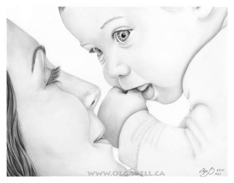 my art drawing mother and baby by olgabell on deviantart