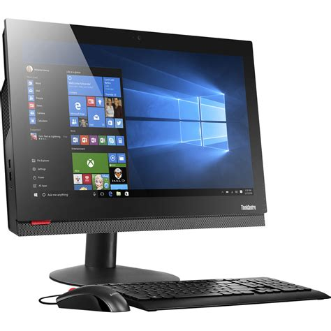all in one computer desk lenovo 21 5 quot thinkcentre m810z all in one 10ny000yus b h