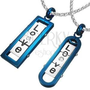 what is angular oval couple pendants angular and oval tag with word quot love
