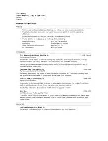 Line Mechanic Cover Letter by General Objectives For Resume Resume Badak