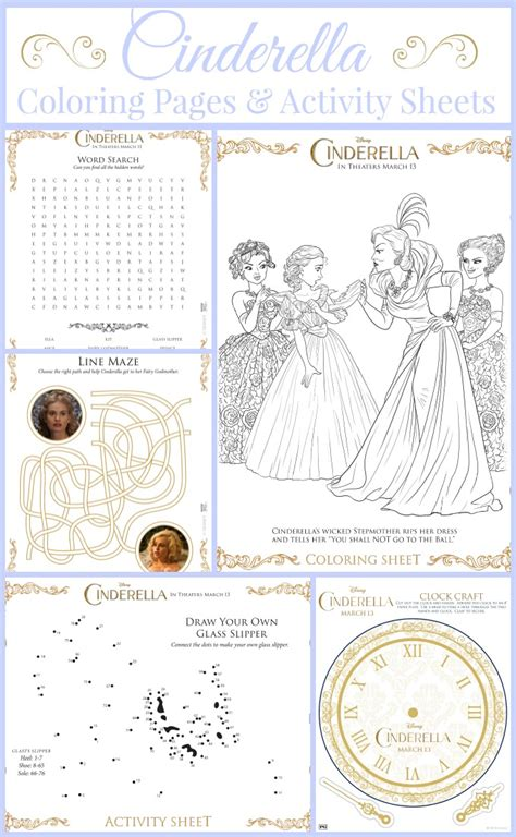new cinderella coloring pages cinderella coloring pages and activity sheets disney s