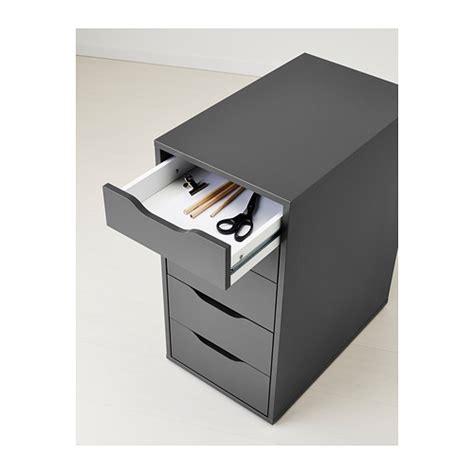 lade da tavolo ufficio alex drawer unit grey 36x70 cm ikea