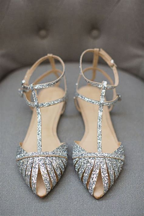 sparkly wedding shoes flats glitter flat wedding shoe silver sandal wedding shoes