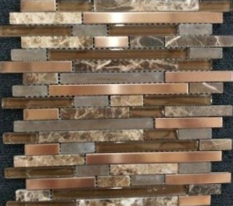 copper tiles for kitchen backsplash copper harbor linear jpg 600 215 531 pixels backsplash