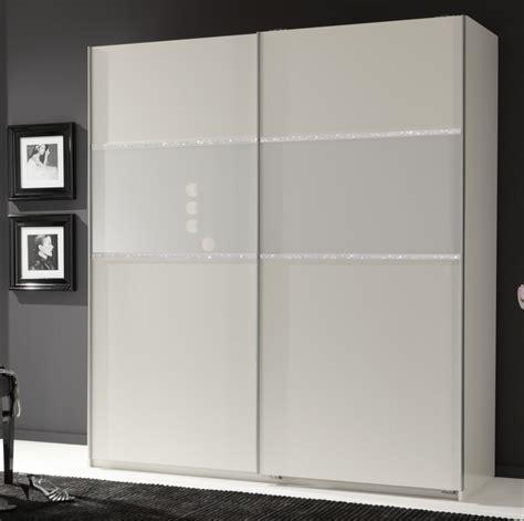 armoire 2 portes coulissantes blitz blanc l 135 x h 198 x p 64