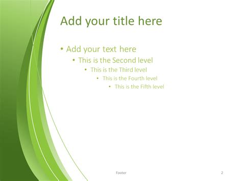 Green Abstract Powerpoint Template Presentationgo Com Green Powerpoint Templates