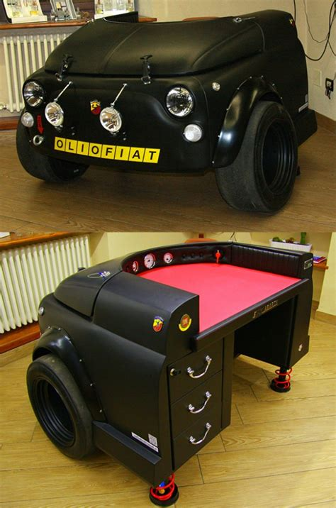 Art And Craft Ideas For Home Decoration fiat 500 abarth racing desk world s slowest car technabob