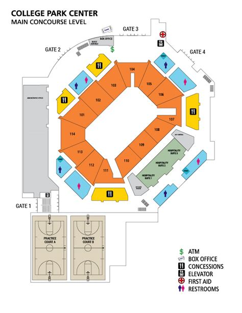 event center layout about the center college park center the university of