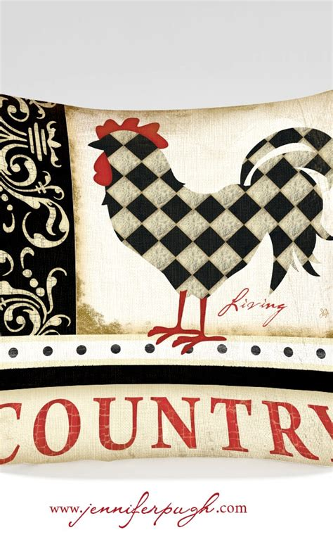 kitchen pillow country living rooster pugh studios