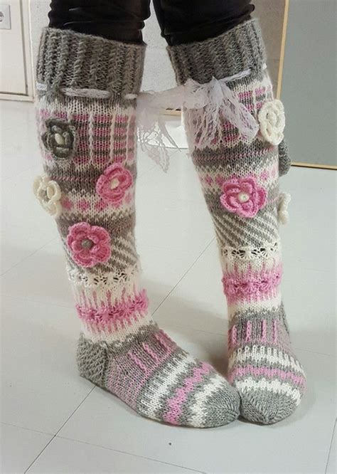 knee knit socks 166 best images about anelmaiset anelma kervisen sukkia