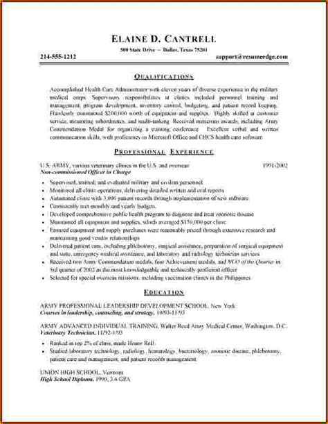 Resume Objective Exles Health Administration 9 Healthcare Administration Resume Bibliography Format