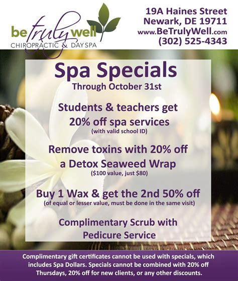spa specials 17 best ideas about spa specials on salon