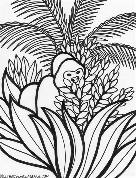 jungle tree coloring page 129 best vbs images on pinterest sunday school vbs 2016