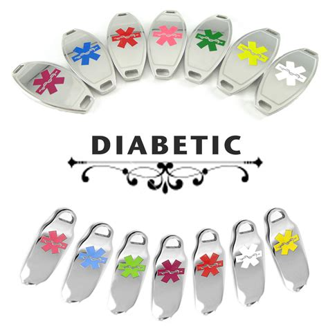 diabetic medical id plate pre engraved for stylish medical