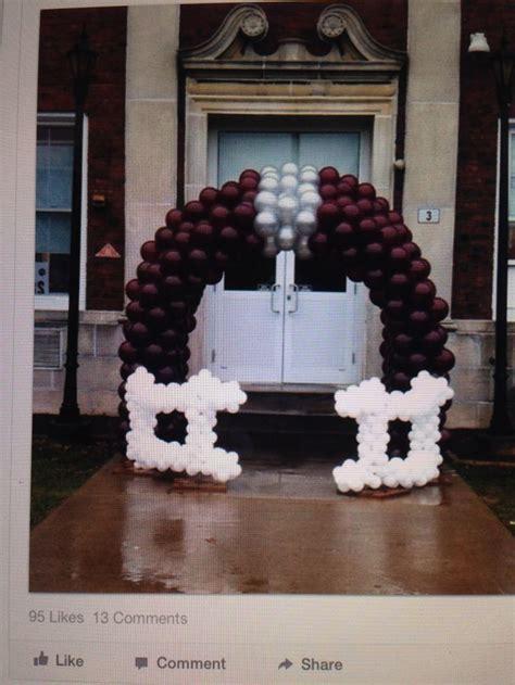 Football helmet arch   Balloon Ideas   Arches   Pinterest