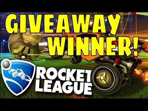 Rocket League Giveaway - rocket league giveaway the winner youtube