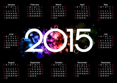 design calendar background colorful 2015 calendar design on dark background free