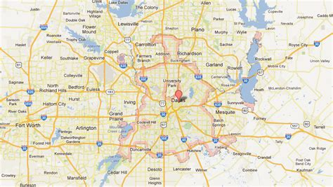dallas texas on the map dallas tx map images