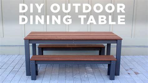 diy modern outdoor table  benches youtube