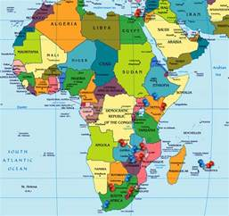 Africa World Map by Oxygen Group Photography Africa