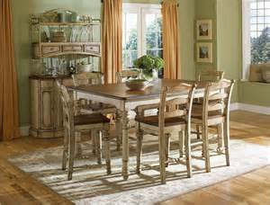 Antique White Kitchen Tables Broyhill Everyday Dining Continents Counter Table Set In Antique White Dining Sets