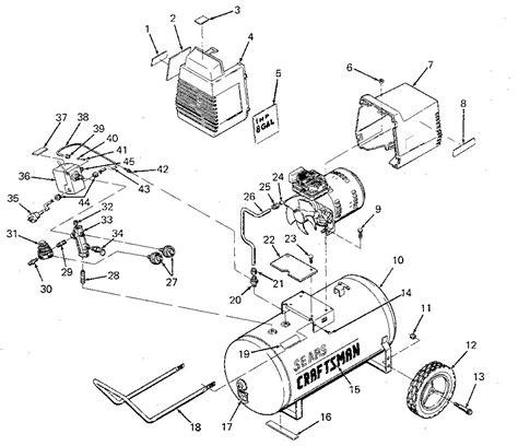 sears craftsman  sears craftsman   air compressor parts