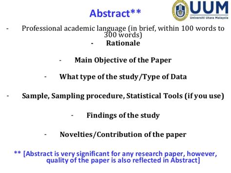 how to write abstract for paper presentation presentation for workshop diu december 28 2014
