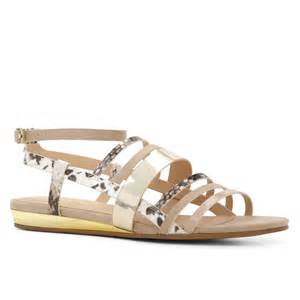 bone colored sandals aldo alisabeth strappy flat sandals in beige bone lyst