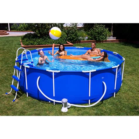 Backyard Pools At Walmart Intex 12 X 39 Quot Metal Frame Above Ground Swimming Pool