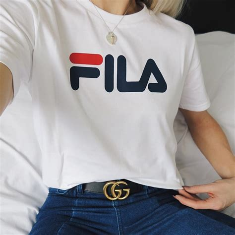 Tshirt Instagram makeuplina the gucci gg belt worn with fila