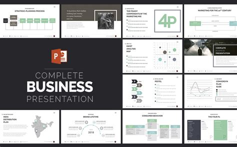 Complete Business Presentation Powerpoint Template 63510 Powerpoint Templates For Business Presentation