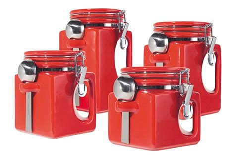 red ceramic canisters for the kitchen 5 best red canister set convenient and attractive