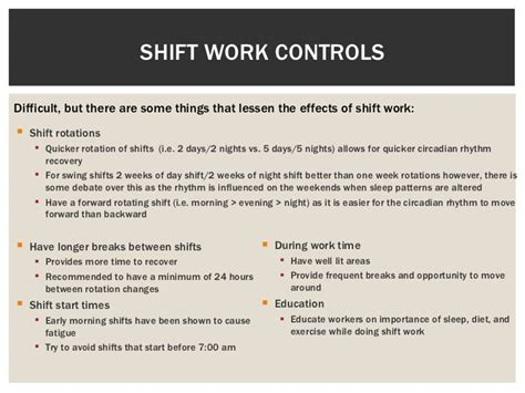 swing shift syndrome unit 6 physical hazards 2