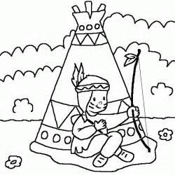 un dibujo con un indio varios dibujos libres para imprimir