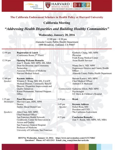 Why Doesn T Harvard Mba Mph Dual Degree by California Endowment Scholars In Health Policy At Harvard