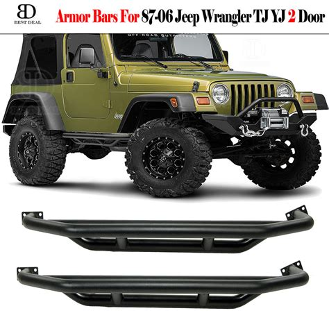 Jeep Nerf Bars Side Armor Bars For 87 06 Jeep Wrangler Yj Tj Step Guard