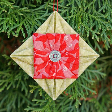 Fabric Origami Ornaments - sy elsk lev sew live fabric origami ornament