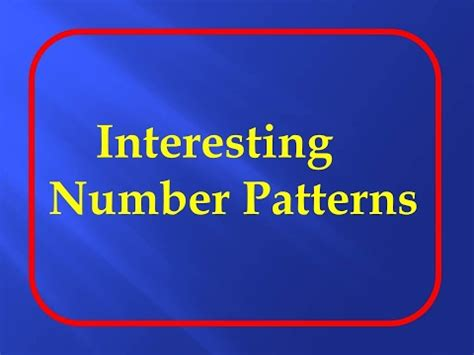 number pattern youtube top 20 interesting number patterns maths puzzles youtube