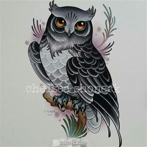 tattoo owl neo traditional pin by h 242 a xăm on c 250 m 232 o pinterest tatoo designs owl