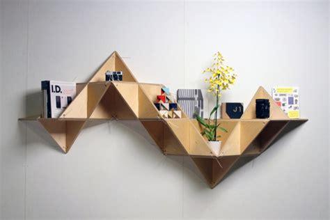 T Shelf by Triangle Shelf Serves Both As An Artwork And A Shelf Livbit