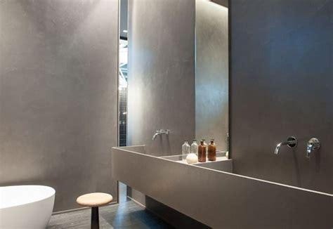 resina per pareti bagno foto bagno pareti in cemento resina spatolato finitura