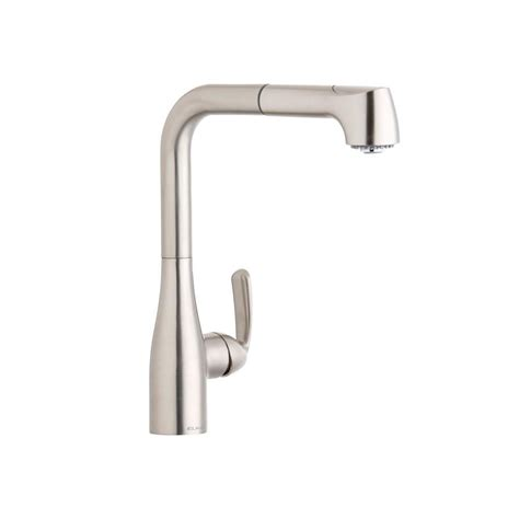elkay kitchen faucets elkay gourmet single handle pull out sprayer kitchen faucet in brushed nickel lkgt2041nk the
