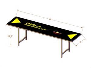 pong table dimensions mega pong