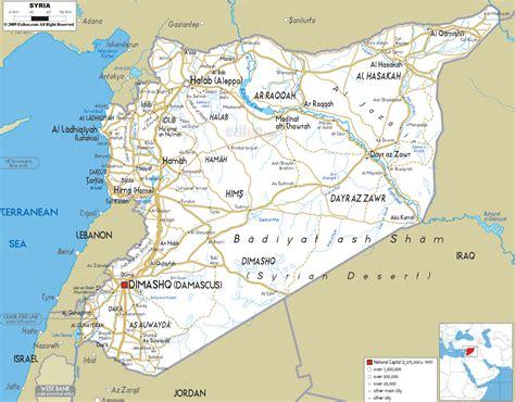 syria map road map of syria ezilon maps