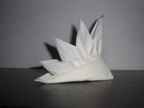 Origami Napkin - strelizie aus serviette faltanleitung napkin folding